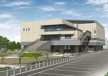 【和歌山県田辺市の新武道館の完成イメージ図】