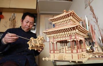井陘鉱区の無形文化遺産「高粱の茎を使った工芸技術」河北省