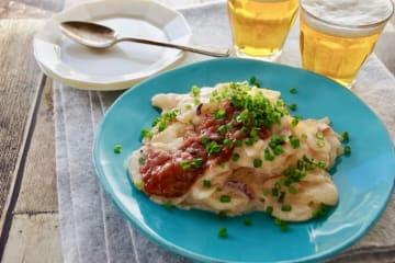 フライパンde塩辛とポテトのグラタン おつまみレシピ