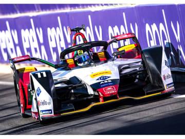 モロッコの首都マラケシュで行われたフォーミュラE第2戦で、2位と3位を獲得した「Envision Virgin Racing」のAUDIマシン。AUDIファクトリーチームの2台も7位、10位に入賞しポイントを獲得した