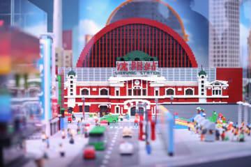 ブロック玩具で瀋陽の街並みをリアルに再現