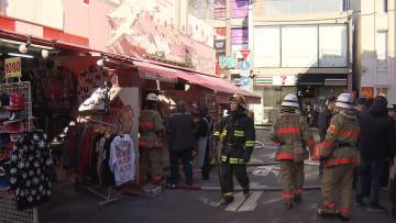 原宿・竹下通りのクレープ店で火災 一時騒然