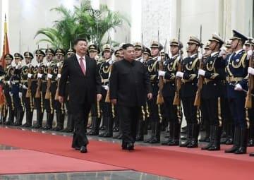 北朝鮮・金正恩氏が4度目の訪中(写真:新華社/アフロ)