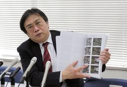 再審請求の新証拠を巡って会見した池田崇志弁護士=18日午後、神戸司法記者クラブ