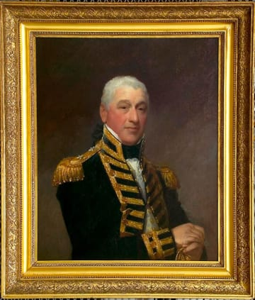 ギルバート・スチュアートが手掛けた肖像画(Portrait of Admiral Sir Isaac Coffin by Gilbert Stuart ca. 1810)