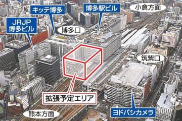 JR九州が博多駅ビル拡張へ 19-21年度着手 福岡市の容積率緩和活用