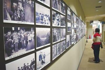 本牧地区センター1階で開催されている写真展