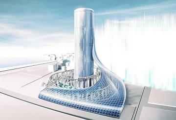 大阪メトロが発表した夢洲駅タワービル(仮称)のイメージ図(大阪メトロ提供)