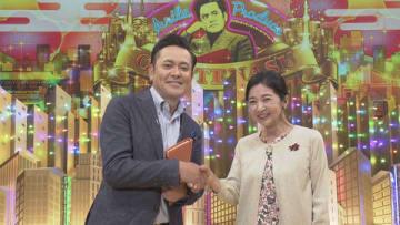 19日放送のNHKの番組「有田Pおもてなす」にゲスト出演する宮崎美子さん(右)=NHK提供