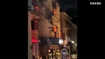 焼け跡から2遺体発見 クリーニング店で火災 兵庫・宝塚市