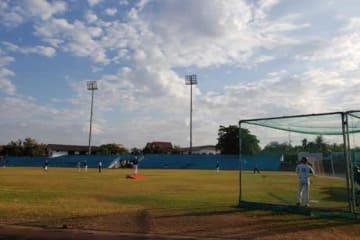 ラオス国際野球大会の試合の様子【写真:豊川遼】