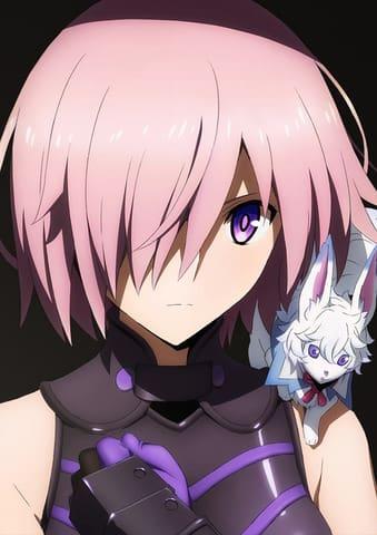 アニメ「Fate/Grand Order -絶対魔獣戦線バビロニア-」のマシュ・キリエライトとフォウのビジュアル(C)TYPE-MOON/FGO7 ANIME PROJECT