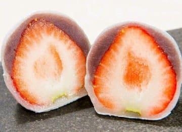和菓子に詰めた心意気 福岡・宗像の「いちご大福」