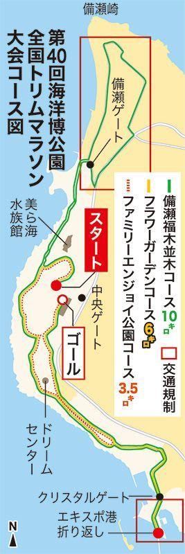 周辺道路で交通規制も あす号砲の海洋博トリムマラソン
