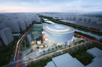 K―POPなどのコンサート専用施設「ソウルアリーナ」の完成予想図(ソウル市提供・聯合=共同)