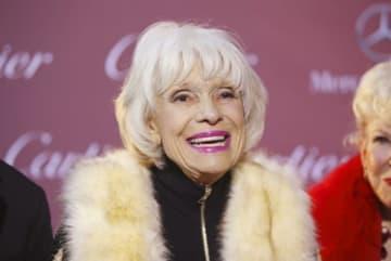 1月15日、米ブロードウェー・ミュージカル「ハロー・ドーリー!」やた「紳士は金髪がお好き」で知られる米女優キャロル・チャニングさんが、カリフォルニア州のランチョ・ミラージュの自宅で死去した。97歳だった。2015年1月3日にパームスプリングスで撮影 - (2019年 ロイター/Danny Moloshok)