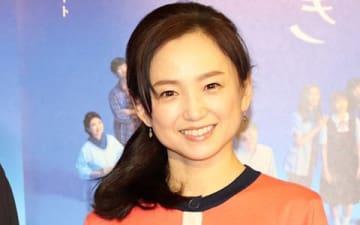 ドラマ「みかづき」の会見に出席した永作博美さん