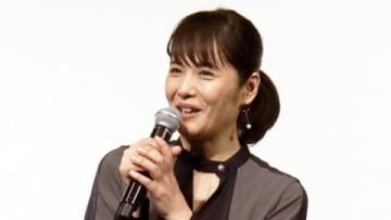 映画「愛唄 -約束のナクヒト-」の親子試写会に登場した富田靖子さん