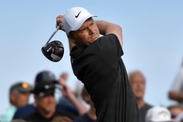 米男子ゴルフのデザート・クラシック ツアー初優勝のアダム・ロング(米国)=20日、ラキンタ(ゲッティ=共同)