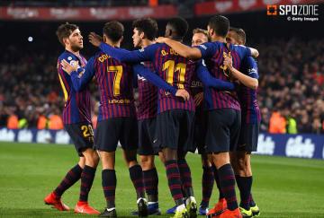ホームで勝利したバルセロナ