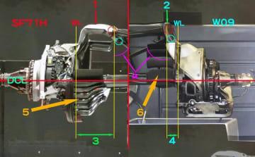 【津川哲夫2018年私的ベストメカ3/5】アップライト周辺に見える、メルセデスとフェラーリの車体コンセプトの違い