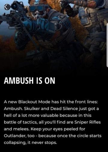 『CoD:BO4』「BLACKOUT」向け新モード「Ambush」の存在が明らかに…「Down But Not Out」終了後に展開予定