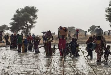 カメルーンに避難する人びと(2018年1月15日撮影)©MSF