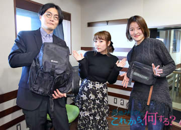 「smart」編集長の太田智之さん(左)と「SPRiNG」編集長の平澤梢(右)とパーソナリティの高橋みなみ