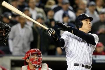2009年WS第6戦で本塁打を放った松井秀喜氏【写真:Getty Images】