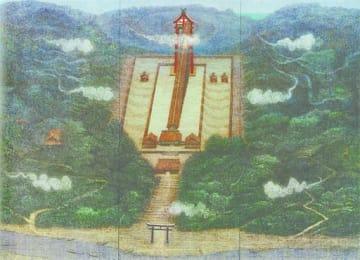 宮廻正明「行雲流水」(212・7×283・5センチ)=福屋広島駅前店