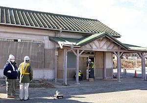 JR常磐線「夜ノ森駅舎」解体に着手 自由通路、待合室整備へ