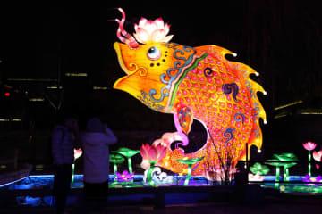 秦淮灯会のライトアップが調整段階へ 江蘇省南京市