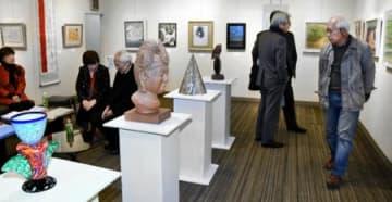 「県在京美術家協会展」始まる 26日まで東京