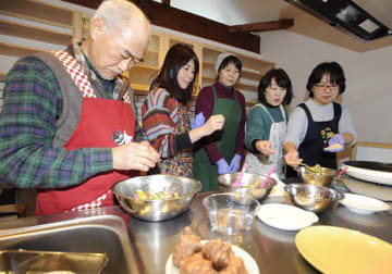 赤菊芋をおいしく食べるこつを学んだ調理・試食会