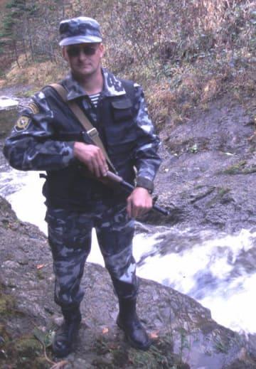 警備にあたるロシア兵