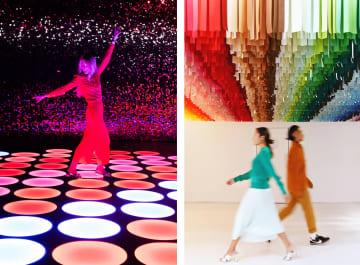 コスメブランドの「メイベリン・ニューヨーク」(左)と、エマニュエル・ ムホーの「100カラー」(右)All photos courtesy Color Factory New York