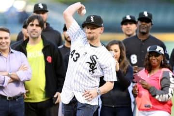 昨年6月に始球式で登板したダニー・ファーカー【写真:Getty Images】