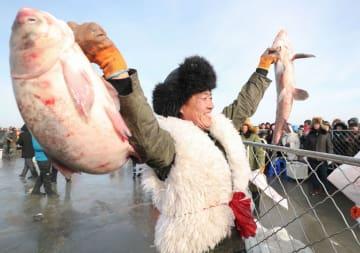 冬季漁業祭開催 遼寧省康平県