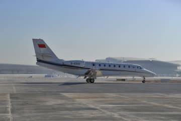 北京新空港で初の検証飛行が行われる