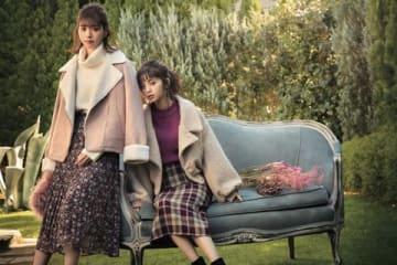 ファストファッションブランド「GRL」のビジュアル。西野七瀬さん(左)と齋藤飛鳥さん