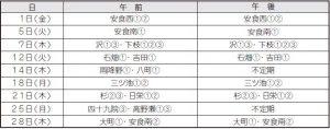 し尿収集カレンダー(2月分)