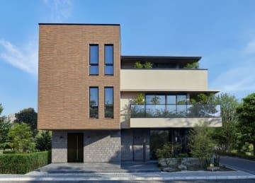 高価格帯木造住宅「ジーヴォグランウッド 都市暮らし森が家コンセプトモデル」外観
