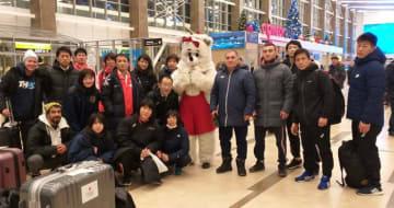 クラスノヤルスクに到着した日本チーム(提供=ピーター・パブロフ)