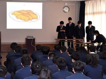 サンコック向けの新メニューを提案する生徒たち=大垣市清水町、清凌高校