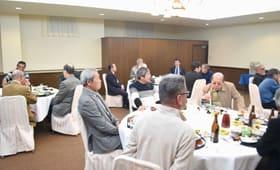 地区の発展を願った登別市中央地区連合町内会の新年交礼会