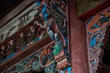 小さな寺で清代の西遊記壁画見つかる 四川省徳陽市