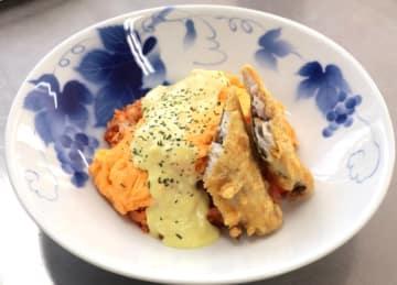 「海軍さんの魚料理」として開発した「五錦飯」