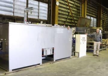 食品リサイクルループの拡大のため増強した処理工場=柏崎市東長鳥