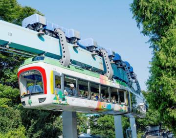 11月で運行を休止する、上野動物園内を走るモノレール=東京都台東区(東京都交通局提供)