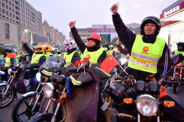 出稼ぎ労働者の長距離バイク帰省始まる 福建省泉州市